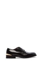 Heel Cup Plain Oxford in Black Leather