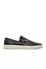 Chain Slip On Sneaker in Black