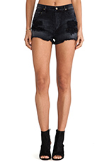 Chloe Cut Off Short in Distressed Viper
