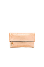 Foldover Clutch in Rose Gold