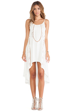 Miki High Low Dress in Ivory