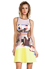 New Home Cut Out Neoprene Dress in Multi