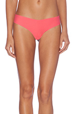 Cotton Thong in Hot Coral