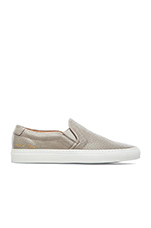 Perforated Nappa Slip On in Grey