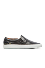 Perforated Nappa Slip On in Black