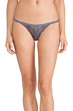 Never Say Never Skimpie G-String in Anthracite