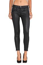 The Soho Zip Stiletto Skinny in Black Coated