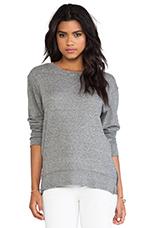 The Stadium Sweatshirt w/ Zips in Heather Grey