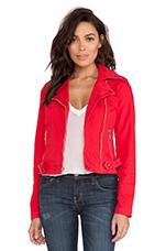 Biker Jacket in Wagon Red