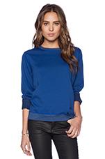 P.E. Flatlock Fleece Sweatshirt in Cobalt