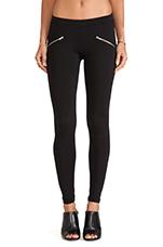 Zipper Leggings in Black