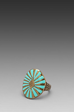Sun Burst Ring in Turquoise