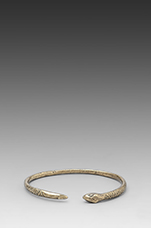 Snake Bangle in Brass