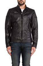 Laleta Leather Jacket in Black