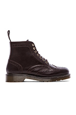 Affleck Brogue Boot in Dark Brown