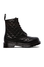 Coralie Quilted 8-Eye Boot in Black