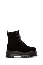Molly 6-Eye Boot in Black