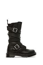 Lauren Calf Strap Boot in Black