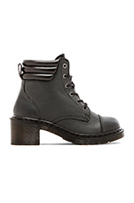 Alexandra 6-Eye Padded Collar Boot in Black