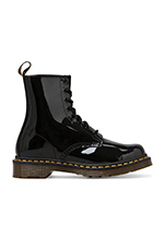 Modern Classic 8 Eye Boot in Black Patent