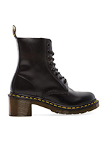 Clemency 8-Tie Boot in Black