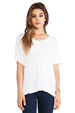 Short Sleeve High Low Tee in White