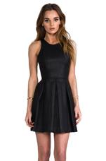 Alda Faux Leather Dress in Black