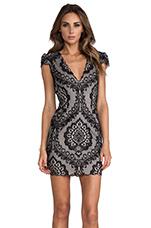 Bellissa Dress in Black & Nude