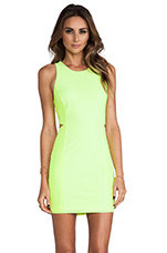 Pernita Dress in Neon Yellow