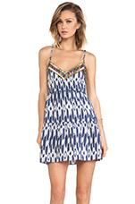 Balere Dress in Cream & Blue