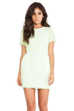 Sarus Dress in Neon Yellow