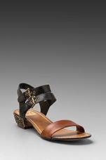 Lira Heel Sandal in Cognac