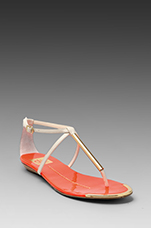 Archer Sandal in Bone/Orange