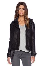 Boyfriend Hoodie Jacket in Black