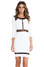 Paneled Lace Dress in Bright White