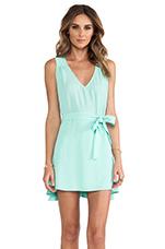 Side Tie Flounce Dress in Mint Cream