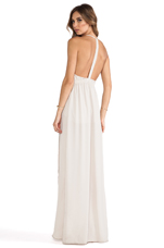 Tulip Gown in French Beige