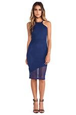 Mid Length Racer Front Dress in Navy