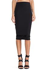 Mid Length Skirt in Caviar
