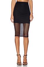 Diamond Midi Skirt in Black