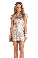 Brooke Mini Dress in Champagne
