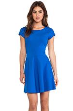 Delyse Dress in Blue Diamond