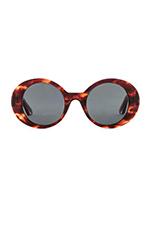 Boylston Sunglasses in Red Brown Smoke