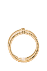 Miro Knuckle Ring in Gold