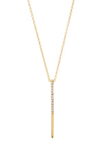 Logan Pendant Necklace in White Topaz