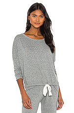Heather Slouchy Tee in Heather Gray