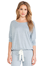 Heather Slouchy Tee in Blue Shadow