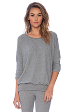 Cozy Time Slouchy Tee in Heather Grey
