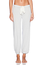 Heather Cropped Pant in Silver