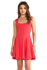 Cap Sleeve Dress in Coral